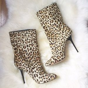 Jimmy Choo Shoes - Jimmy Choo Leopard Calf Hair Tall Stilleto Boots