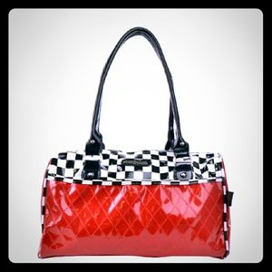 Voodoo Vixen Handbags - Voodoo Vixen Racing Checker And Red