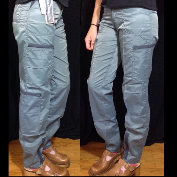 vintage rare vntg 1980s grey parachute pants nwt from