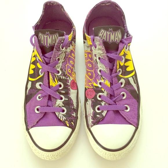 02d83e215c70 Converse Shoes - Amazing ltd edition purple Batman Converse lowtops