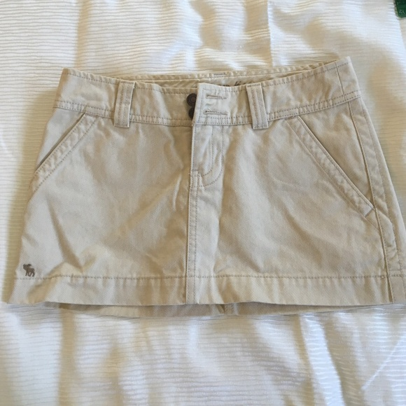 22d9f8a00 Abercrombie & Fitch Dresses & Skirts - A&F tan beige corduroy Jean mini  skirt ...