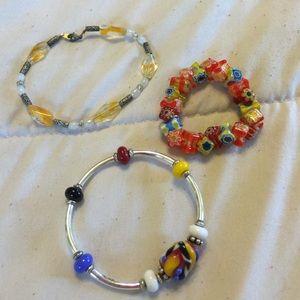 Three beautiful bracelets. Boho