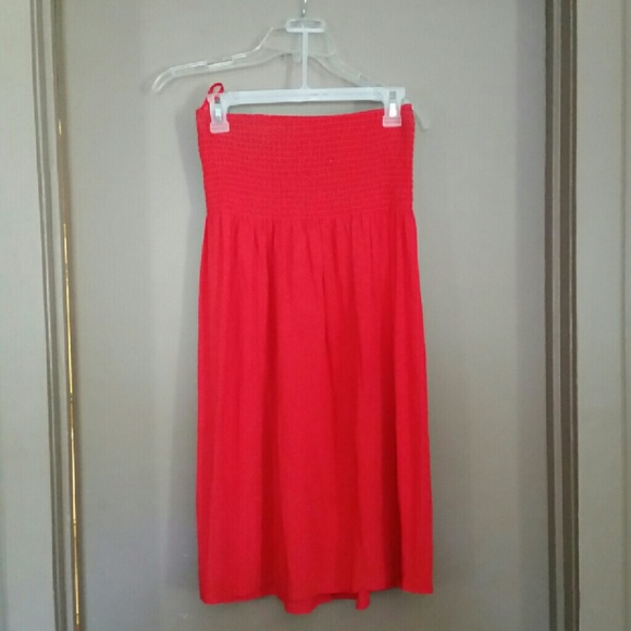 Available Dresses & Skirts - Red Strapless Dress