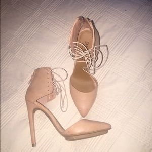 Shoe Cult by Nasty Gal nude heels (only worn once)