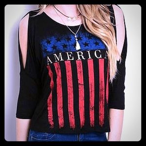 Closeout SaleAmerican Flag Crop Top ⚡️Sale