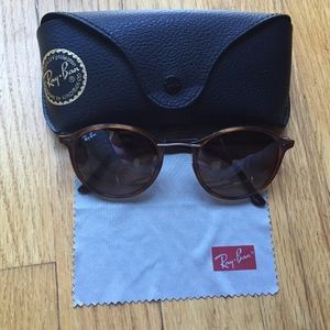 Ray-Ban Accessories - Ray-Ban RB4242 Brown Round Light Havana Sunglasses bff95bd3767a