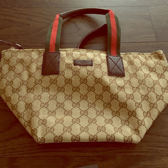 b09a2a302baf Gucci Bags | Gg Canvas And Leather Small Tote Authentic | Poshmark