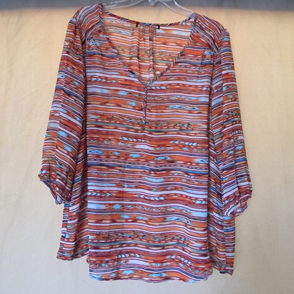 Living Doll Tops - Living Doll sheer blouse size 2X