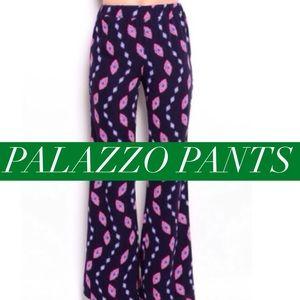 Influence Pants - 🌿🌻 blue printed palazzo pants