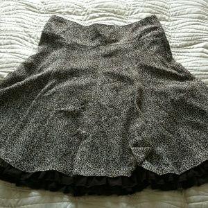 H&M leopard skirt