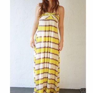 Striped twist top Maxi Dress