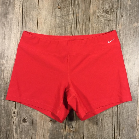 65% off Nike Pants - Nike red spandex shorts from Blaire's closet ...