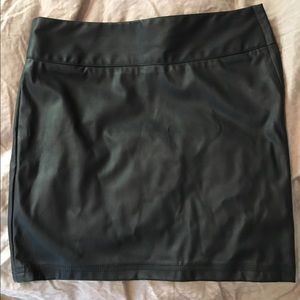 Akira Red Label- Black Pleather Miniskirt