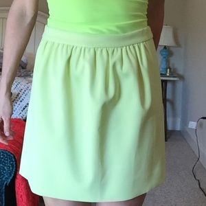 Yellow neon skirt