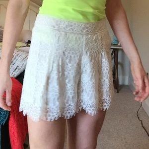 Pants - Off white lace shorts