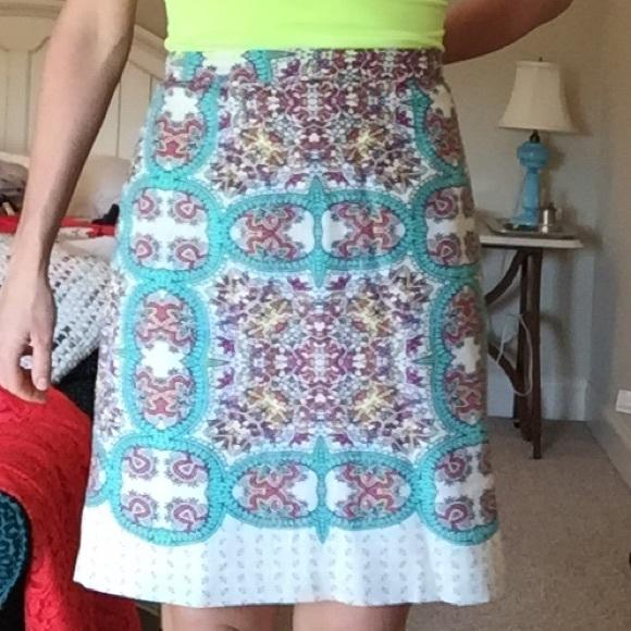 Anthropologie Dresses & Skirts - Paisley print knee length pencil skirt