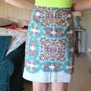 Anthropologie Skirts - Paisley print knee length pencil skirt
