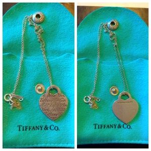 Authentic Tiffany & Co. hearts tag charm necklace