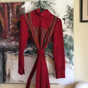 Patricia Bell vintage xl red 60's dress