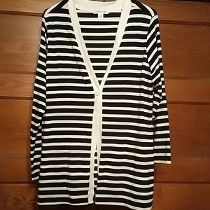 Coldwater Creek Sweaters - Striped cardigan
