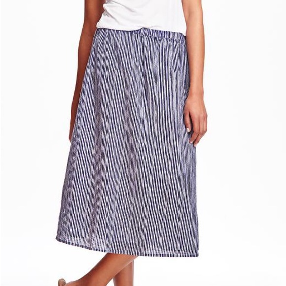 Old Navy Skirts - Blue and white striped midi skirt