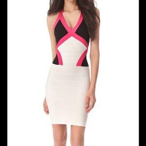Herve Leger Dresses & Skirts - ✨SALE✨NWT Herve Leger colorblock bandage dress