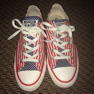Converse Shoes - Red/White/Blue Converse Sneakers