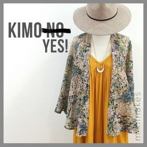 Anthropologie Jackets & Blazers - STARING AT STARS • floral print kimono cape