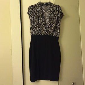 Forever 21 black/white cocktail dress, M