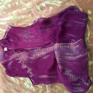 Purple top or cover up