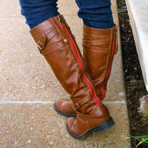 Madden Girl Riding Boots Hardly Worn