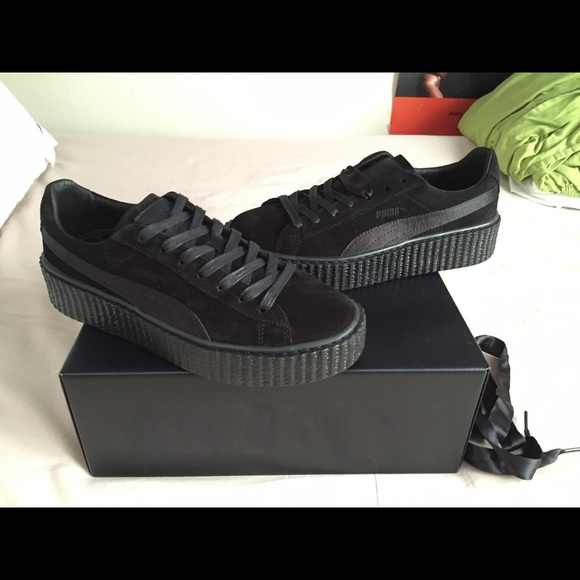 puma creepers suede black