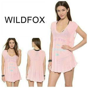 "WILDFOX ""Happy Place"" Beach Cover Up"