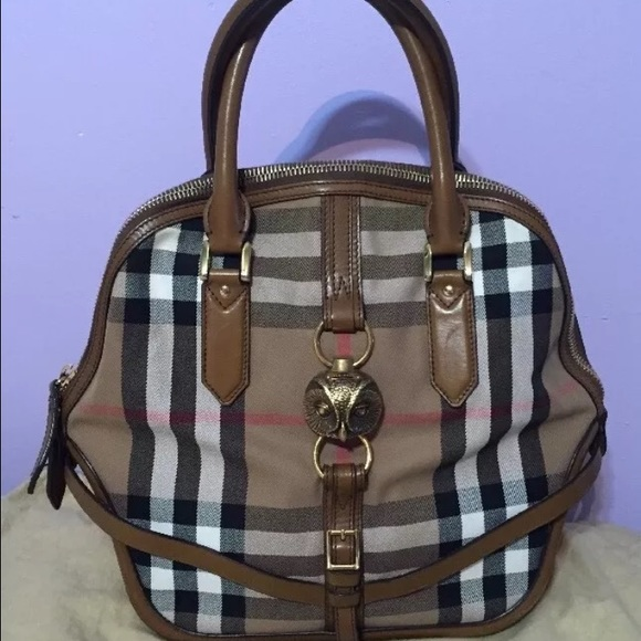 Burberry Bags House Check Bridle Owl Orchard Purse Rare