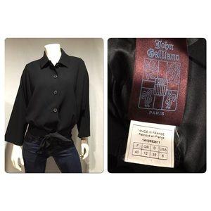 John Galliano  Jackets & Blazers - John Galliano bat winged tie blazer