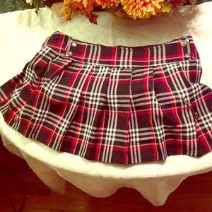 SALELIP SERVICE Plaid Pleated Mini Skirt SZ SM