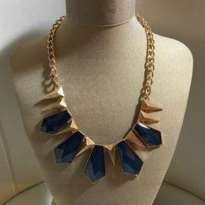 Gorgeous statement blue necklace