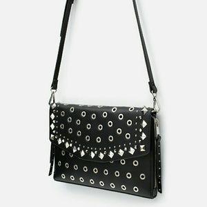 Zara studded evelop clutch bag