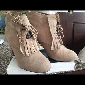 Karen Millen Fringed Booties Size 37