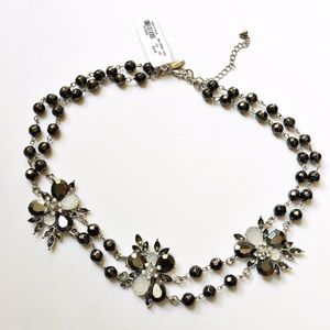 New York & Company Jewelry - NWT NY&Co Faux Druzy Beaded Floral Necklace
