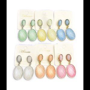 Jewelry - Gem Stone Earrings- 5 colors!