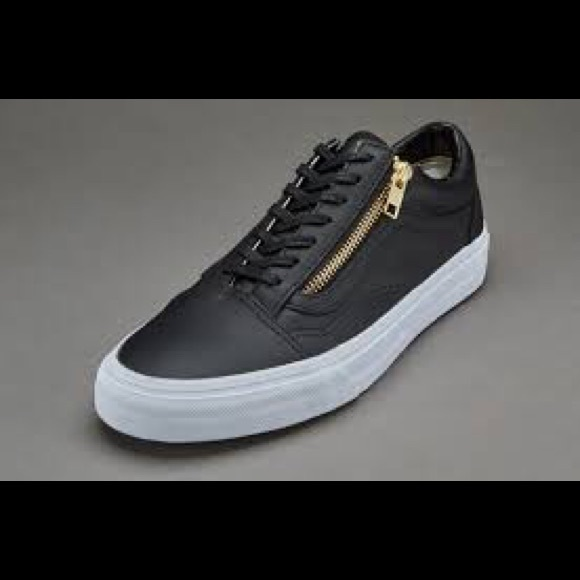 b286df46e3 Leather black vans gold zipper size womens 8! M 575971776d64bc851b0128bd.  Other Shoes ...