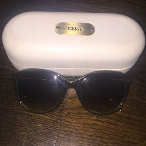 Authentic Chloe Green Sunglasses