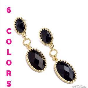Jewelry - Gem Stone Drop Earrings- 6 colors