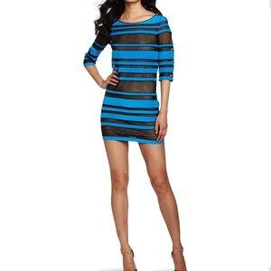 Robert Rodriguez Dresses & Skirts - ROBERT RODRIGUEZ BLUE & NET DRESS SIZE 2 SMALL