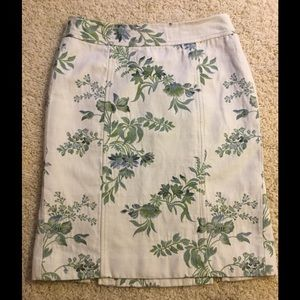 Ann Taylor embroidered pencil skirt