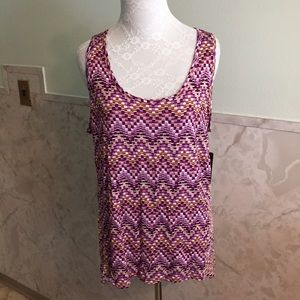 NWT A.N.A. Soft and Stretchy Cube Design Tank