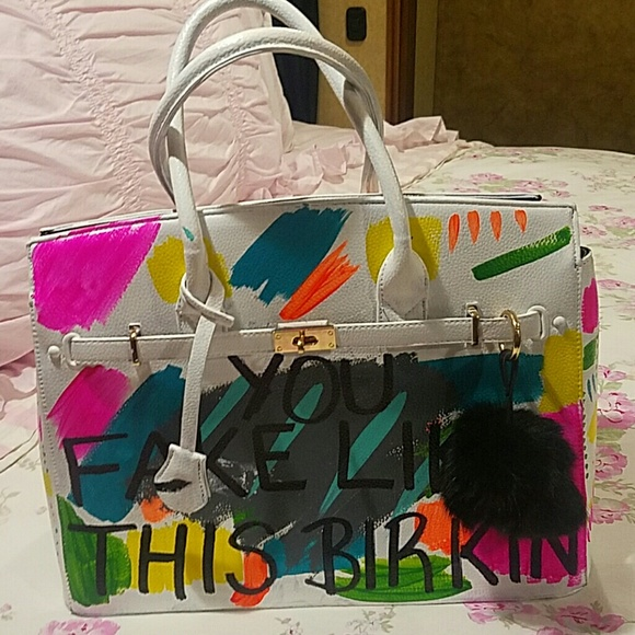 7b94c661b4f3 Sonique Saturday You fake like this Birkin bag