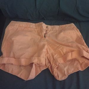 ⭐MOVING⭐️ Bright coral jcrew chino shorts!