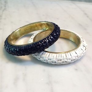 The Limited Set of 2 Wicker Bangles